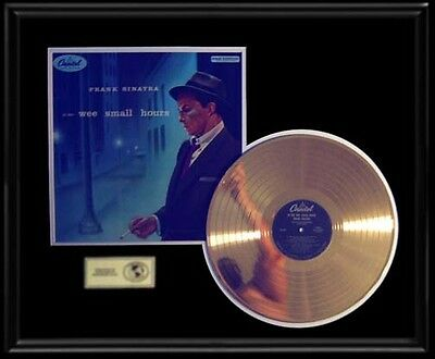Frank Sinatra In The Wee Small Hours Rare Gold Record  Disc Lp Album Frame