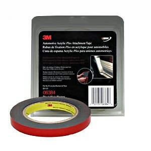 3M 06384 Automotive Acrylic Plus Double Sided Attachment Tape, 6384