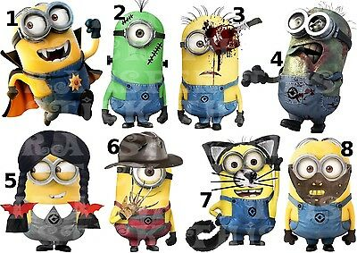 Sticker Wall Deco Decal Personalised Minions Despicable Me Halloween Lot
