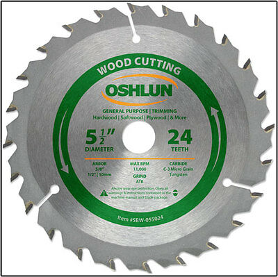 "OSHLUN SBW-055024 - 5-1/2"" x 24T General Purpose Saw Blade"
