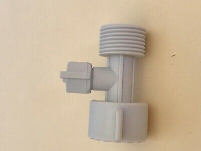 Bidet T adapter 7/8 male and female with 1/4 inch Hose connection.