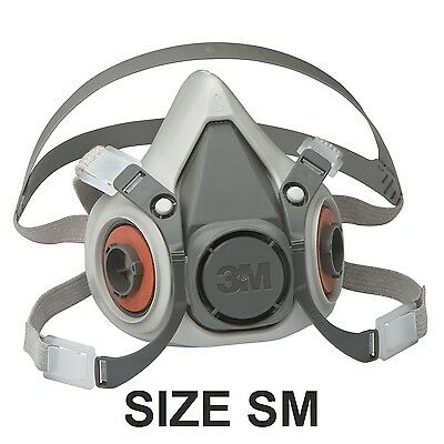 3M 6000 Respirator Small Half Mask Facepiece 6100 (Mask Only)