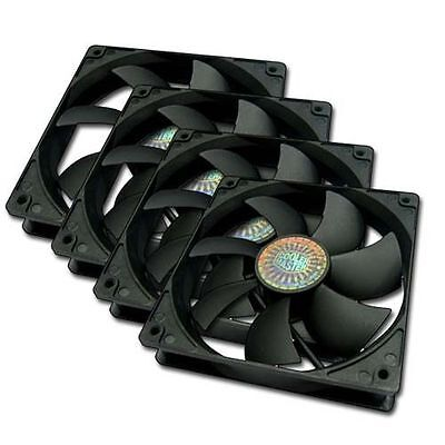Cooler Master 4 x 120mm Silent Case Fan 4 in 1 Value Pack R4-S2S-124K