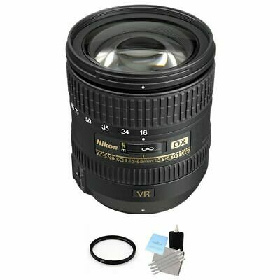 Nikon Nikkor AF-S 16-85mm F/3.5-5.6 ED DX G VR Lens + UV Filter & Cleaning Kit