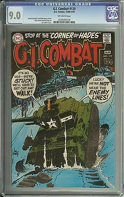 G.i. Combat #139 Cgc 9.0 Ow Pages // Joe Kubert Cover