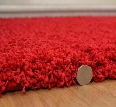 Shaggy Red Rug Soft Thick Long 50 mm High Twist Pile Runner Any Room