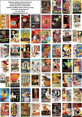 Marilyn Monroe Movie Posters -60 All Different A6 Art Cards