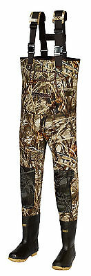 New Men MAX-4 Camo Fishing/Hunting Neoprene Wader Lug Boots Size 13 KING