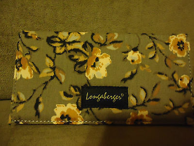 Longaberger Khaki Floral Checkbook Cover--NEW!