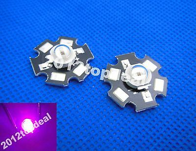 10pc 3W 365-370nm UV LED ultraviolet LED chip High Power bead with 20mm star pcb