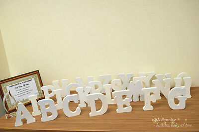 "15cm (H) X 1.8cm White Big Wood Stand Wedding Letters/uppercase And Symbol ""&"""