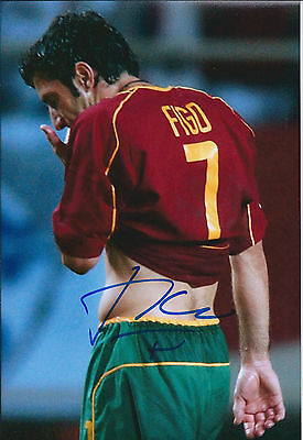 Luis Luís FIGO SIGNED Autograph Photo AFTAL COA Portugal Football Real Madrid
