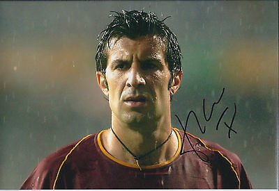 Luis Luís FIGO SIGNED Autograph Photo AFTAL COA Portugal Football Inter Milan