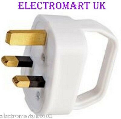 Easy Pull 13A 13 Amp Mains Plug White