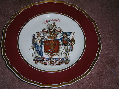 Antique Rockingham China Earl Of Vicount Duncan Camperdown Armorial Plate C1825