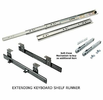 Ball Bearing Drawer Runners Slides Full Extension All sizes 25kg Load H35 Pair