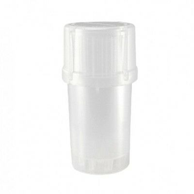 MedTainer Storage Container w/ Built-In Grinder -Transparent