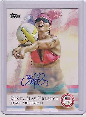 2012 Topps Olympic Misty May-Treanor Autograph Auto Card #40 ~ Beach Volleyball
