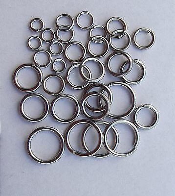 What size jump ring do I need?  Sample pack stainless steel jump rings 4 - 10mm