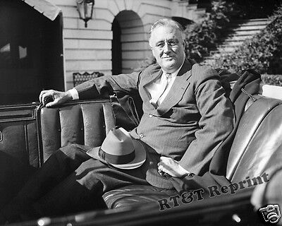 Photograph of the 32nd US President Franklin Delano Roosevelt  FDR 1936  8x10