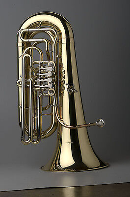TEMPEST AGILITY WINDS 1/2 SIZE BBb TUBA 4 ROTARY VALVES .660 BORE CASE w/ WHEELS