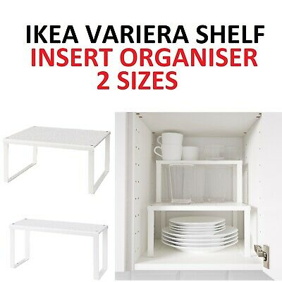 IKEA VARIERA Shelf Insert SMALL & LARGE Cupboard Organiser KITCHEN STACKABLE