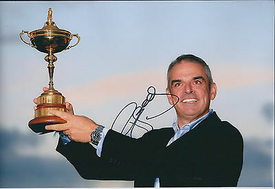 Paul McGINLEY SIGNED AUTOGRAPH 12x8 Photo AFTAL COA Ryder Cup Winning CAPTAIN