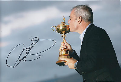 Paul McGINLEY SIGNED AUTOGRAPH Photo AFTAL COA Kissing Ryder Cup Golf RARE