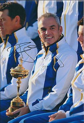 Paul McGINLEY SIGNED AUTOGRAPH Photo AFTAL COA Ryder Cup Golf Europe Authentic