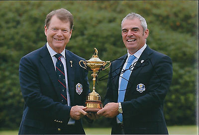 Paul McGINLEY SIGNED AUTOGRAPH Photo AFTAL COA Ryder Cup with Tom WATSON USA