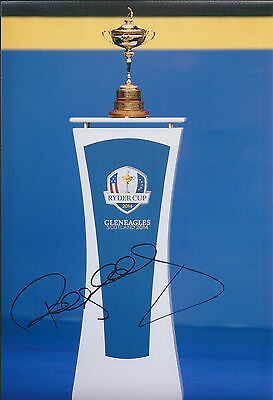 Paul McGINLEY SIGNED AUTOGRAPH Photo AFTAL COA Ryder Cup Scotland Gleneagles