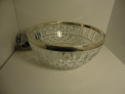International Silver Company and 24% pbo German Cut Crystal bowl