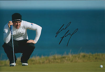 Richie RAMSEY SIGNED AUTOGRAPH 12x8 Photo AFTAL COA US Amatuer Winner Golf