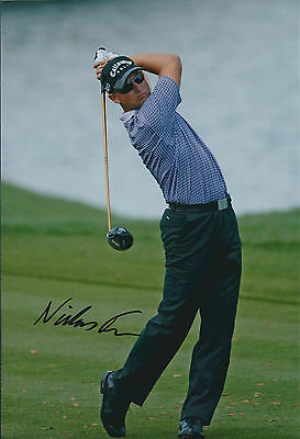 Niclas FASTH SIGNED AUTOGRAPH 12x8 Photo AFTAL COA European Tour Golf Winner