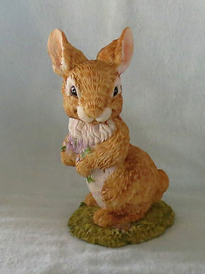 Summit Nature's Friends Rabbit with Violets Figurine