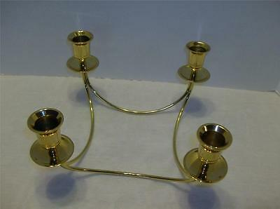 4 Brass Candle Holders Centerpiece Tabletop Dinner Table