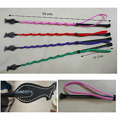 Horse riding Crop Massage Whips w/ Strap Red Green Pink Purple -Take your Pick!