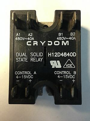 Crydom Dual Solid State Relay, H12D4840D  **