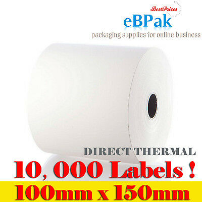 10000x Direct Thermal Label 100X150mm 4x6 for Fastway Startrack AusPOST eParcel