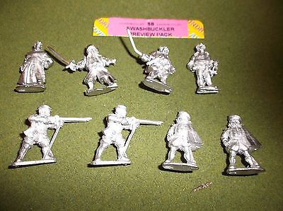 """AB Foundry SB """"SWASHBUCKLER PREVIEW PACK"""" 25mm 8 Figures"""