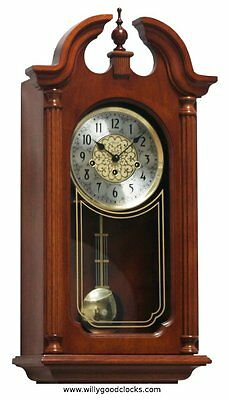 (New!) HOPEWELL Chiming Mechanical Wall Regulator Clock by Hermle Clocks