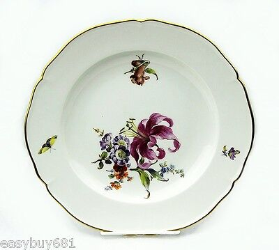 Kpm Germany 19Th Century Cabinet Flower Plate Museum Quality No Chips # 2