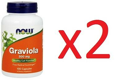 2x Graviola Now Food 100 Caps 1,000mg Soursop Health Foods Healthy Cell Immune