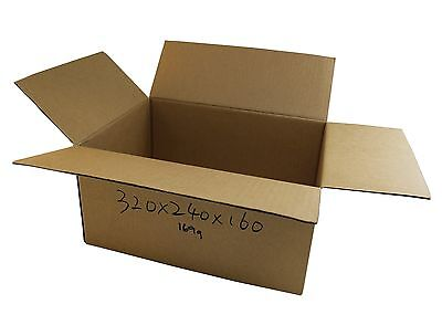 50 320x240x160mm Cardboard Boxes 5Kg Satchel mailing Carton boxes Mailing Boxes