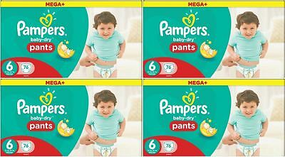 304 Couches Pampers Baby Dry Pantalons *MEGA+*  Taille 6 ,  15+ Kgs