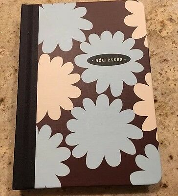 HALLMARK  ADDRESS TELEPHONE EMAIL BOOK  BROWN , Blue Flowers, BRAND NEW