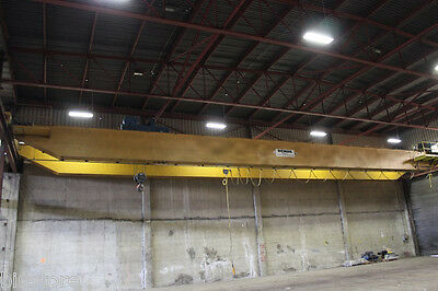 20 Ton x 100' Demag Double Girder Top Riding Overhead Bridge Crane
