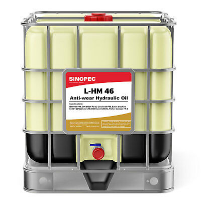 AW 46 Hydraulic Oil Fluid (ISO VG 46, SAE 15) - 275 Gallon IBC Tote