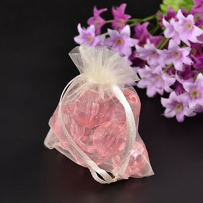 100pcs Sheer Organza Jewelry Packing Wedding Gift Storage Pouch Mini Beads Bags