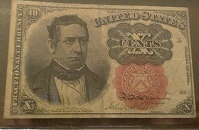 1874 US 10 Cent Fractional Currency Note